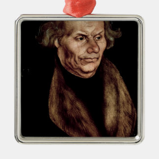 Hans Luther , Father of Martin Luther Silver-Colored Square Ornament
