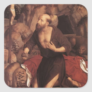 Hans Memling- St. Jerome Sticker