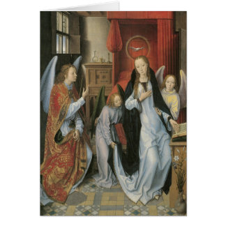 Hans Memling's Annunciation Canvas Print Card