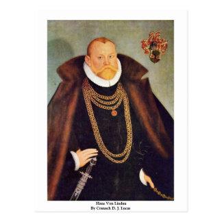 Hans Von Lindau By Cranach D. J. Lucas Postcard