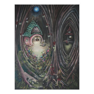 Hansel and Gretel fairy tale print