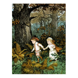 Hansel and Gretel Illustration Postcard