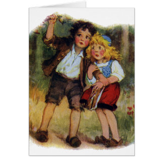 Hansel and Gretel Lost in the Woods Card