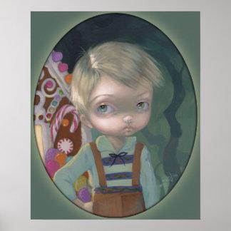 Hansel ART PRINT big eye lowbrow Gretel candy