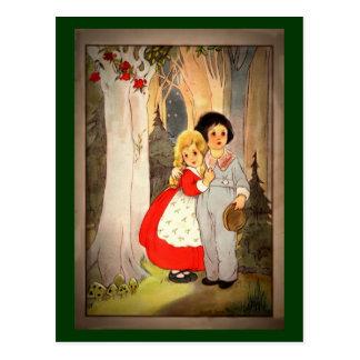 Hansel et Gretel au bord de la forêt Cartes Postales