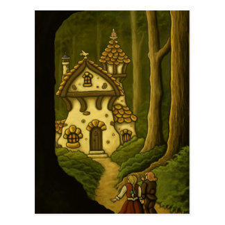 Hansel & Gretel fairytale art postcard