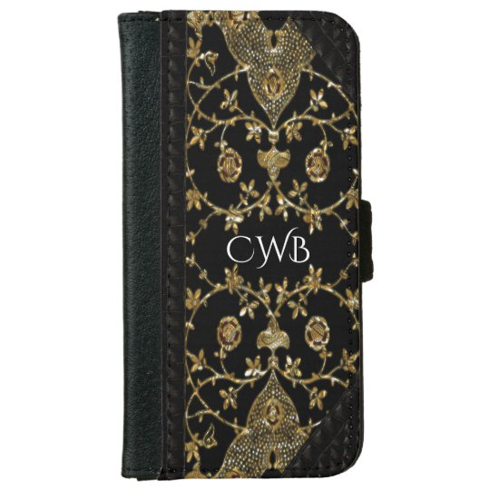 Hanterpost 6/6s Old Book Style Monogram iPhone 6 Wallet Case