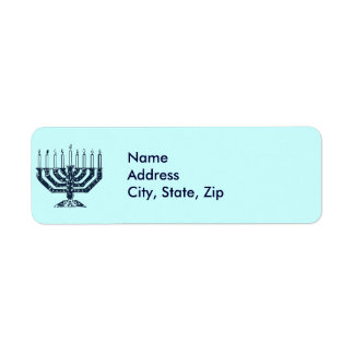 Hanukah Menorah Return Address Label