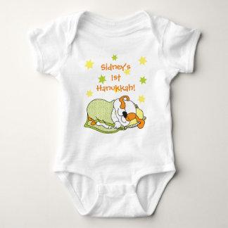 Hanukkah Baby Body Suit/dog/Green Orange Baby Bodysuit