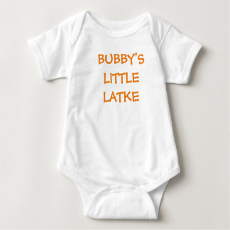 "HANUKKAH BABY ""BUBBY'S LITTLE LATKE"" SHIRT"