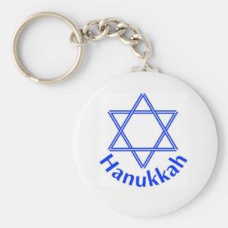 Hanukkah Basic Round Button Keychain