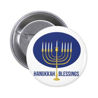Hanukkah Blessings 2 Inch Round Button