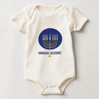 Hanukkah Blessings Baby Bodysuit