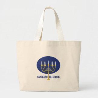 Hanukkah Blessings Large Tote Bag