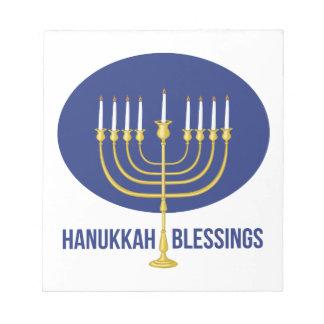 Hanukkah Blessings Notepad