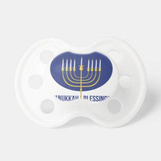 Hanukkah Blessings Pacifiers