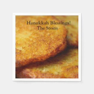 Hanukkah blessings potato pancakes cocktail napkin disposable napkins