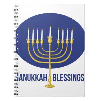 Hanukkah Blessings Spiral Notebooks