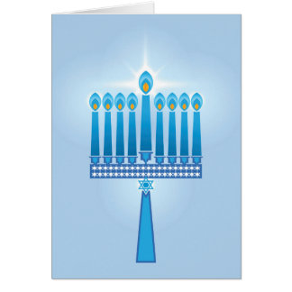Hanukkah Candles Star Of David Card