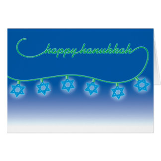 Hanukkah Card Star Lights