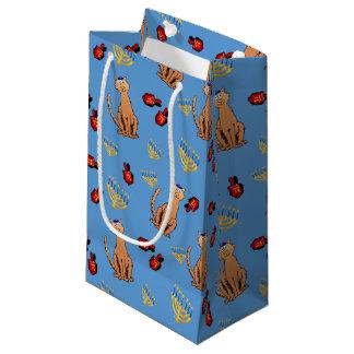 Hanukkah Cat Dreidel Blue Gift Bag