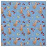 Hanukkah Cat Dreidel Blue Wrap Fabric