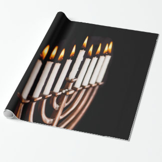 Hanukkah Chanukah Hanukah Hannukah Burning Menorah Wrapping Paper
