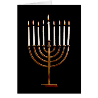 Hanukkah Chanukah Hanukah Hannukah Menorah Candles Card