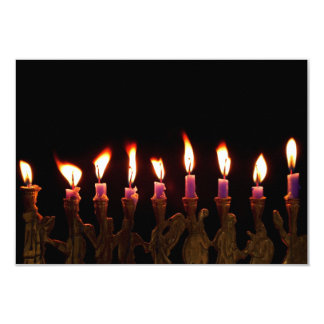 Hanukkah Chanukah Hanukah Menorah Burning Candles Card