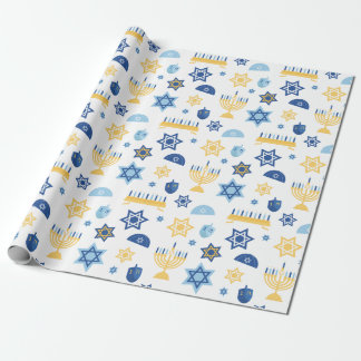 Hanukkah Chanukkah Menorah Star Wrapping Paper