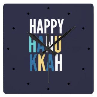 Hanukkah Characters Square Wall Clock