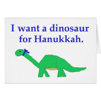 Hanukkah Dinosaur card