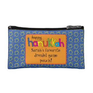 Hanukkah Dreidel Bag Personalize Makeup Bags