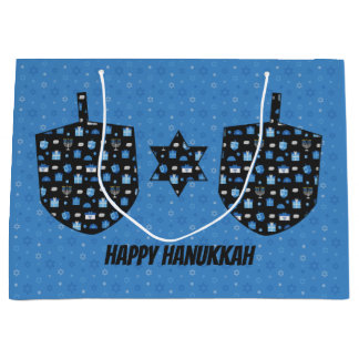 Hanukkah Dreidel Cutout Large Gift Bag