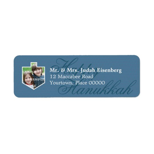 Hanukkah Dreidel Frame Return Address Label