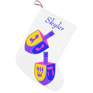 Hanukkah Dreidels Colorful Chrismukkah For Kids Small Christmas Stocking