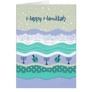 Hanukkah Dreidels Menorah Lace Scrapbooking Look Card