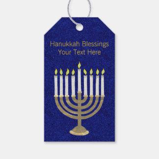 Hanukkah Gold Menorah Elegant Personalized Pack Of Gift Tags