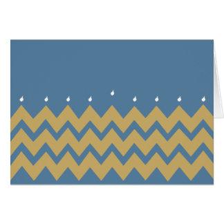 """Hanukkah Greeting Card/Envelope """"Hanukkah Chevron"""" Card"""