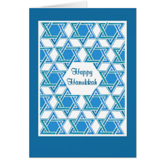 Hanukkah Greeting Card with Star of David Pattern