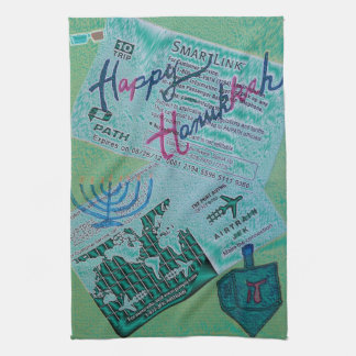 Hanukkah Happiness Kitchen Towel