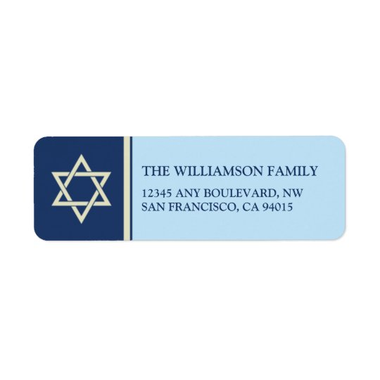 Hanukkah Holiday Return Address Labels (blue)