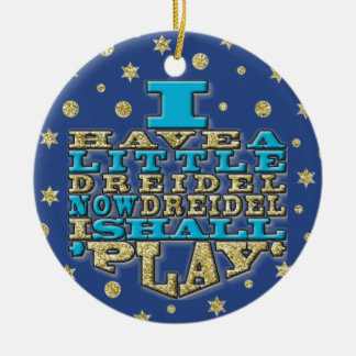 "Hanukkah ""I Have a Little Dreidel""/Circle Ornament"