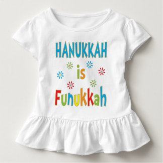 """Hanukkah Is Funukkah"" GIRLS Ruffle T-Shirt"