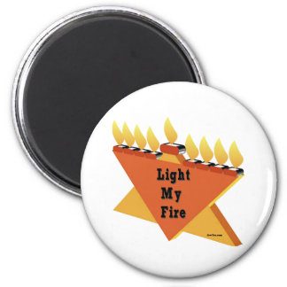 HANUKKAH LIGHT MY FIRE MENORAH GIFT MAGNET