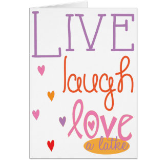 "Hanukkah ""Live Laugh Love a latke"" Card w/Envelope"