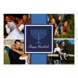 Hanukkah Menorah Banner Card