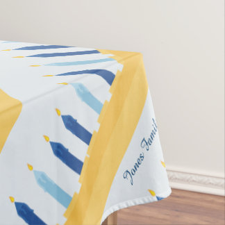 Hanukkah Menorah blue and gold Tablecloth