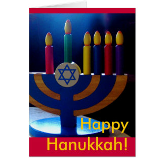 Hanukkah Menorah Card-Colors Card