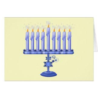 Hanukkah Menorah (customizable) Card